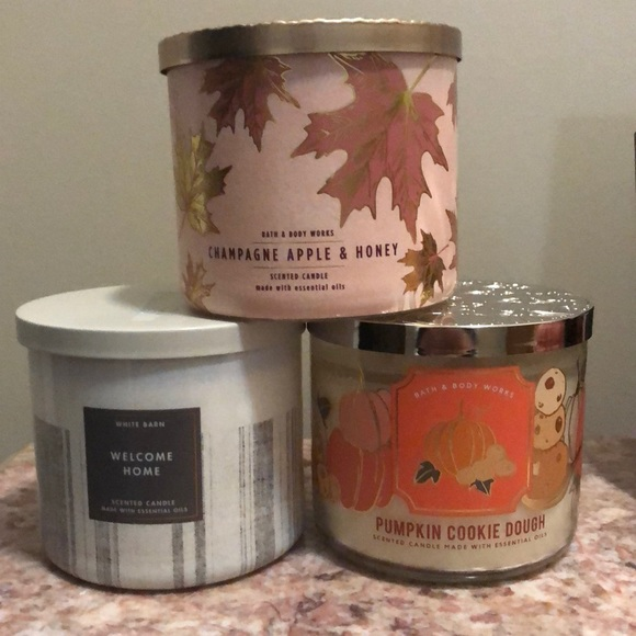Bath and Body Works Candles set of 3